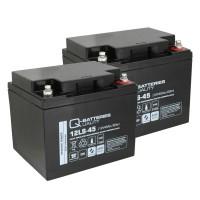 Ersatzakku für Brandmeldezentrale Siemens FC726-ZA 2 x AGM Batterie 12V 45Ah mit VdS