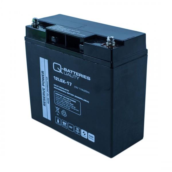 Q-Batteries 12LSX-17 12V 17Ah Blei-Vlies-Akku / AGM 10 Jahre
