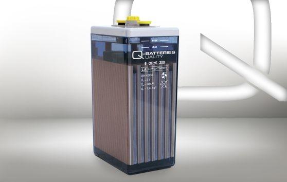 Q-Batteries 6V 5 OPzS 250 268 Ah (C10) stationäre OPzS-Batterie inkl. keramischer Stopfen