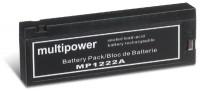 Multipower MP1222A Clipanschluss / 12V 2Ah Blei Akku