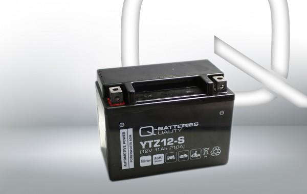 Q-Batteries Motorradbatterie YTZ12-S 51121 AGM 12V 11Ah 210A
