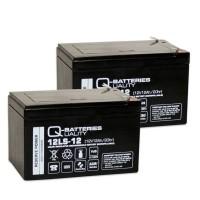 Ersatzakku für Brandmeldezentrale Telenot comfire 80 BMT 2 x AGM Batterie 12V 12Ah mit VdS