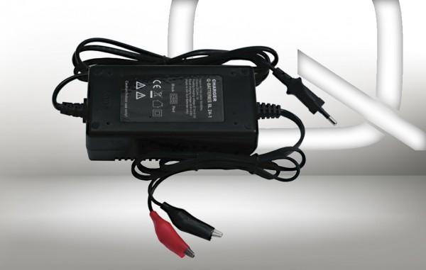 Q-Batteries BL 24-1 Ladegerät für Bleiakkus 24V - 1A Ladestrom IU0U Ladekennlinie