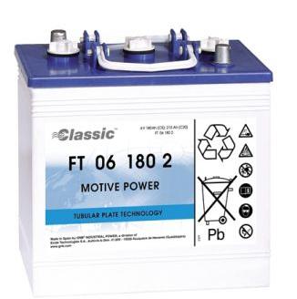 Exide Classic FT 06 180 2 Antriebsbatterie 6 Volt 180 Ah (5h) mit PzS-Platten