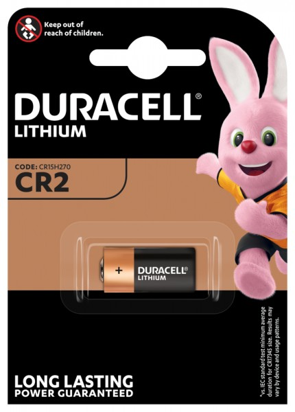 Duracell LITHIUM CR2 3V Primär CR17355 Fotobatterie (1er Blister) UN3090 - SV188