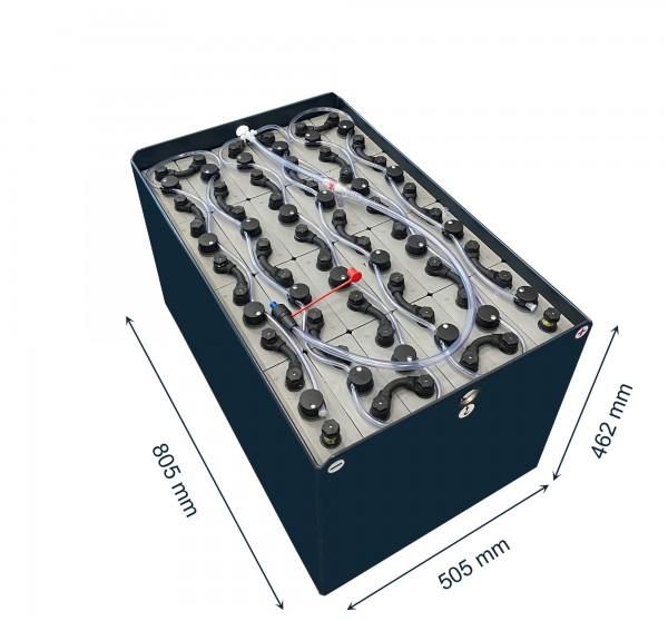 Q-Batteries 48V Gabelstaplerbatterie 4 PzS 320 Ah (805 * 505 * 462mm L/B/H) Trog 40122600 inkl. Aqua