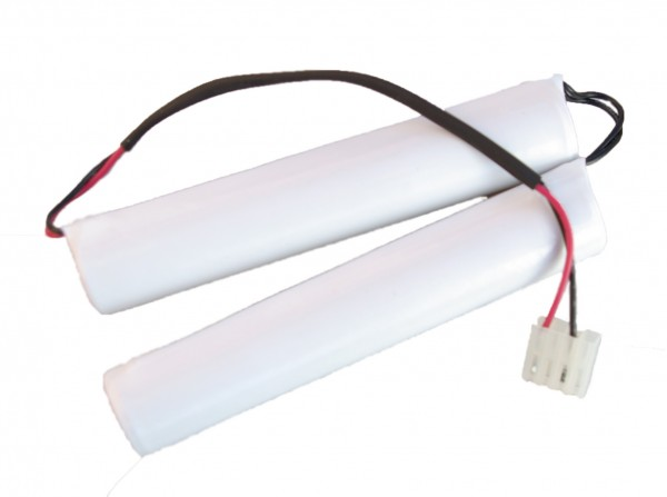 Akku Pack 7,2V 1500mAh für Notbeleuchtung D-Stab NiCd L3+ L3+10cm Brücke SC1500HT Molex Stecker 09-9
