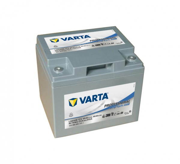 Varta LAD50B Professional DC AGM Batterie 12V 50Ah 830050035
