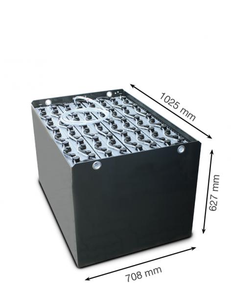 Q-Batteries 80V Gabelstaplerbatterie 4 PzS 500 DIN A (1025 x 708 x 627) Trog 57019017 inkl. Aquamati