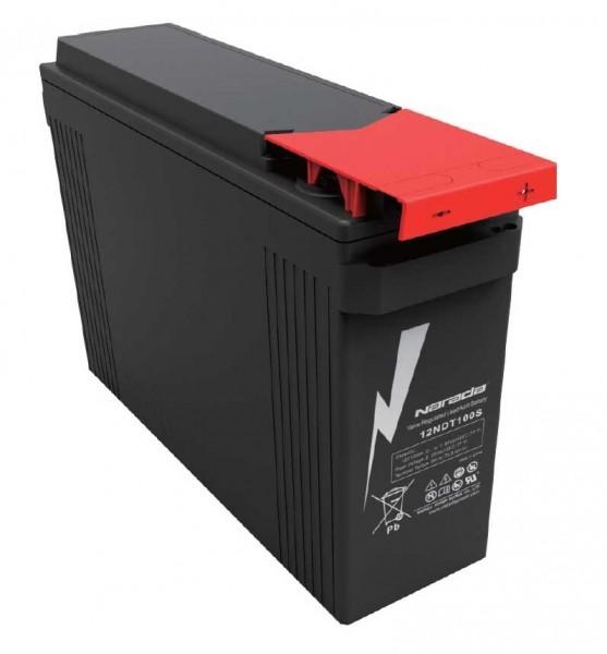 Q-Batteries by Narada 12LFT-100 / 12V 100Ah Frontterminal Blei Akku / Blei-Vlies-Akku VRLA 12 - 100F
