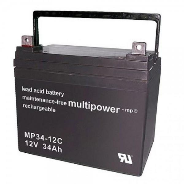 Multipower MP34-12C / 12V 34Ah Blei Akku Zyklentyp
