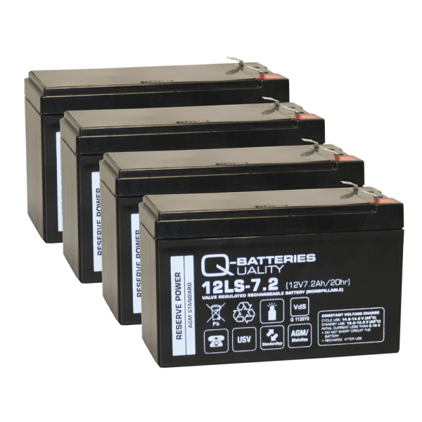 Ersatzakku für APC Smart-UPS 1000/ C 1500 RBC132 / Markenakku mit VdS