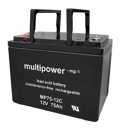 Multipower MP75-12C / 12V 75Ah Blei Akku AGM Zyklentyp