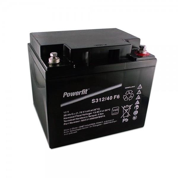 Exide Powerfit S312/40 F6 12V 38Ah dryfit Blei-Akku AGM mit VdS