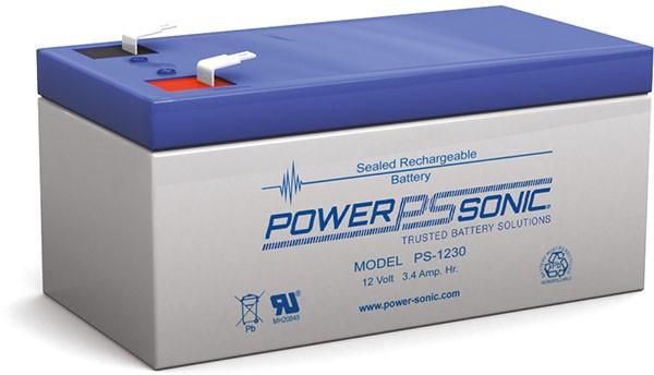 Powersonic 12V 3,4Ah Blei-Vlies Akku AGM VRLA PS 1230 VdS