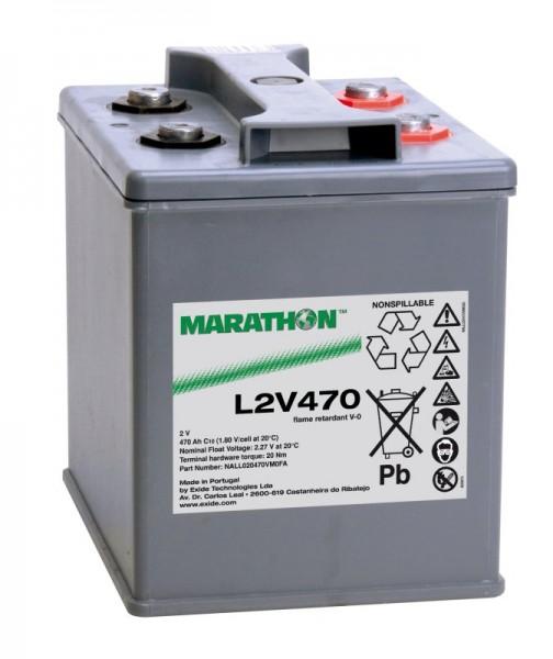 Exide Marathon UL2V470 2V 470Ah AGM Blei Akku VRLA