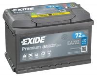 Exide EA722 Premium Carbon Boost 12V 72Ah 720A Autobatterie