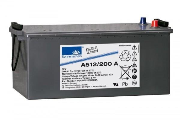 Exide Sonnenschein A512/200 A 12V 200Ah dryfit Blei-Gel-Akku VRLA
