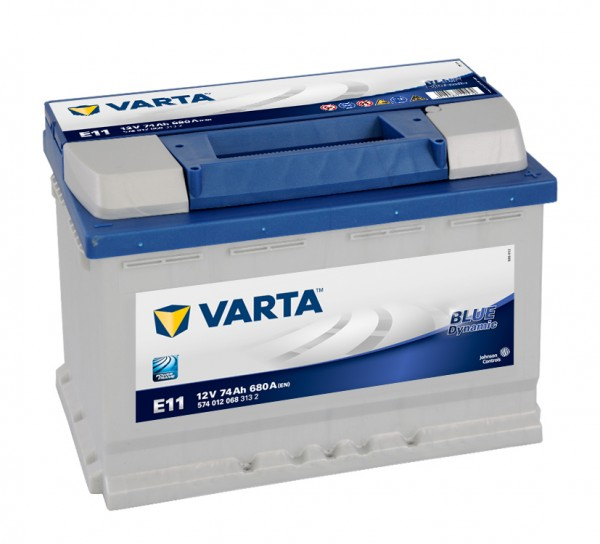 VARTA E11 Blue Dynamic 12V 74Ah 680A Autobatterie 574 012 068