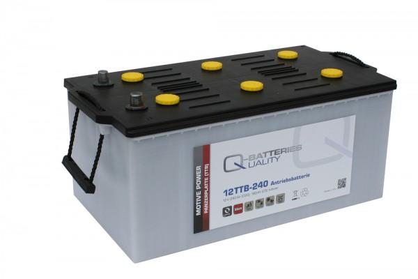 Q-Batteries 12TTB-240 12V 240Ah (C20) geschlossene Blockbatterie, positive Röhrchenplatte