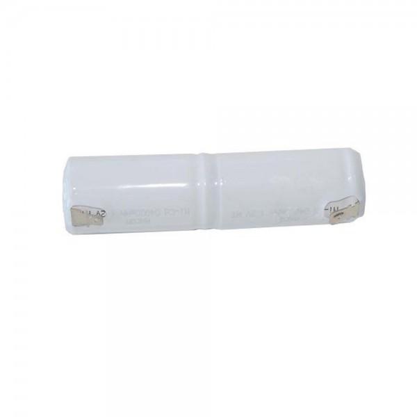 Akku Pack 2,4V 2500mAh für Notbeleuchtung Stab NiCd L2x1 2xC Faston +6,3/ -4,8mm