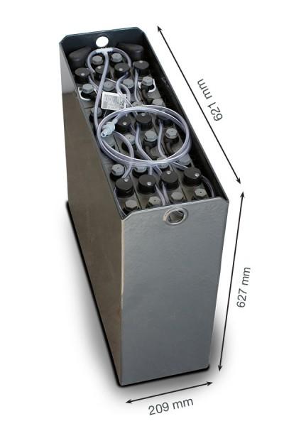 Q-Batteries 24V Gabelstaplerbatterie 2 PzS 230 Ah DIN B (621 x 209 x 627mm L/B/H) Trog 57014072 inkl