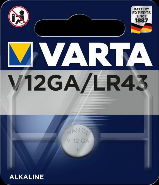 Varta Electronics V12GA LR43 Fotobatterie 1,5V (1er Blister)