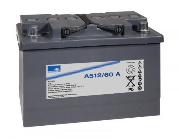 Exide Sonnenschein A512/60 A 12V 60Ah dryfit Blei-Gel-Akku VRLA
