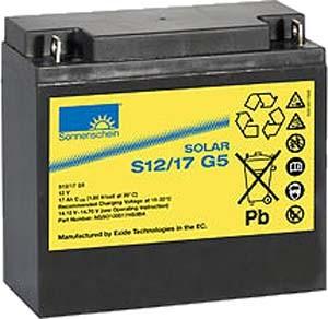 Exide Sonnenschein Solar S12/17 G5 Blei-Gel Batterie 12V 17Ah