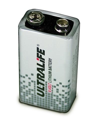 Ultralife U9VL-J-P - 9V Block Power Cell Lithium Batterie 9V 1200mAh UN3090 - SV188