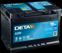 DETA DK700 Start-Stop AGM 12V 70Ah 760A Autobatterie