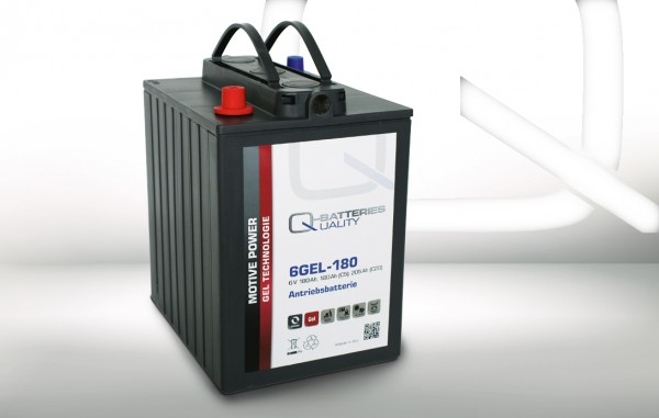 Q-Batteries 6GEL-180 Antriebsbatterie 6V 180Ah (5h) 205Ah (20h) wartungsfreier Gel-Akku VRLA