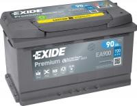 Exide EA900 Premium Carbon Boost 12V 90Ah 720A Autobatterie