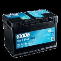Exide EK700 Start-Stop AGM 12V 70Ah 760A Autobatterie