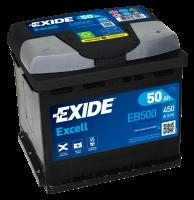 Exide EB500 Excell 12V 50Ah 450A Autobatterie