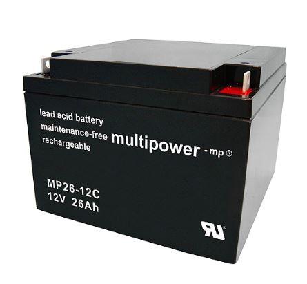 Multipower MP26-12C / 12V 26Ah Blei Akku Zyklentyp
