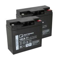 Ersatzakku für Brandmeldezentrale ABB BZK8 BZK20 2 x AGM Batterie 12V 17Ah mit VdS