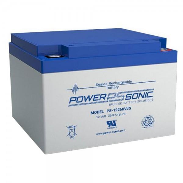 Powersonic 12V 26Ah Blei-Vlies Akku AGM VRLA PS 12260 VdS