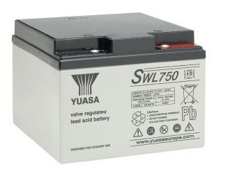 Yuasa SWL750 22,9Ah (10h) mit 750 Watt 12V Bleiakku SWL Serie AGM Akku