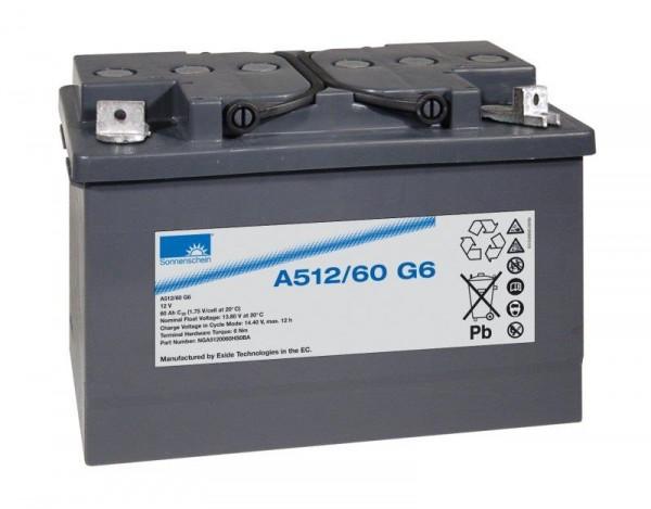 Exide Sonnenschein A512/60 G6 12V 60Ah dryfit Blei-Gel-Akku VRLA