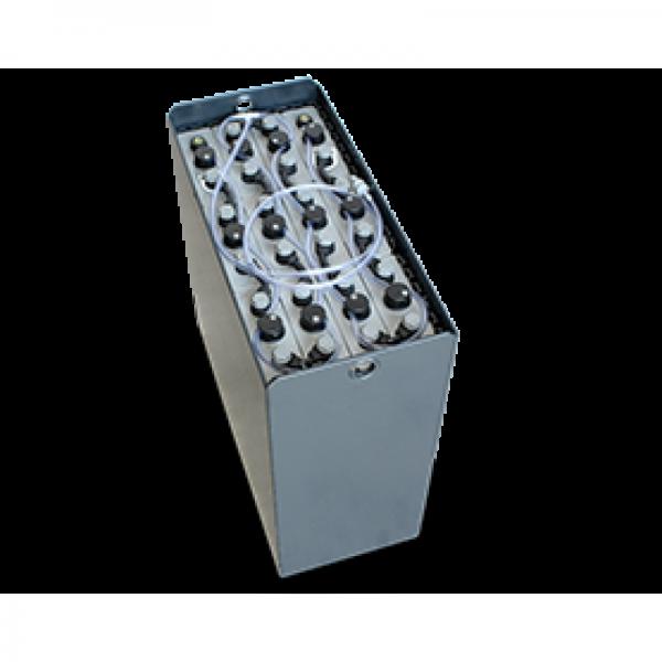 Q-Batteries 24V Gabelstaplerbatterie 6 PzS 750 DIN A (827 x 378 x 627) Trog 57014031 inkl. Aquamatik