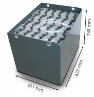 Q-Batteries 48V Gabelstaplerbatterie 5 PzS 775 DIN A (832 * 631 * 784) Trog 57017039 inkl. Aquamatik