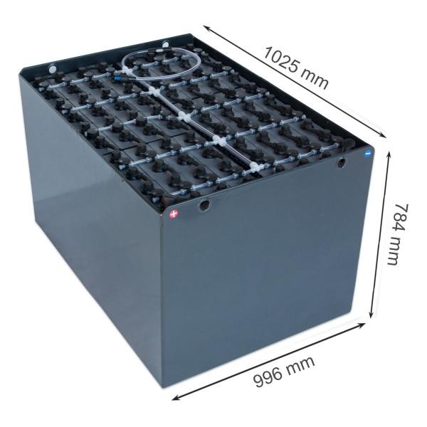 Q-Batteries 80V Gabelstaplerbatterie 6 PzS 930 DIN A (1025 x 996 x 784) Trog 57019070 inkl. Aquamati