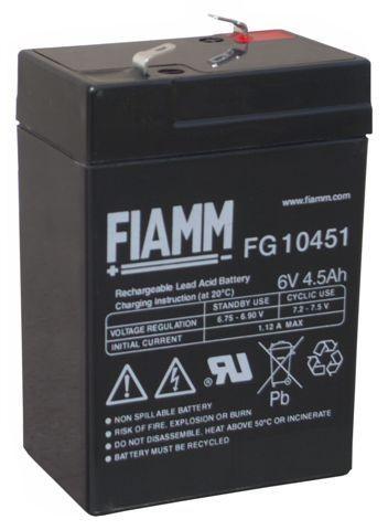 Fiamm FG10451 6V 4,5Ah Blei Vlies Akku Blei Akku AGM