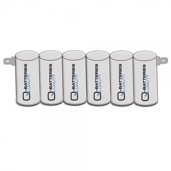 Akku Pack 7,2V 2000mAh für Notbeleuchtung Reihe NiCd F6x1 6xSub-C Faston +6,3/ -4,8