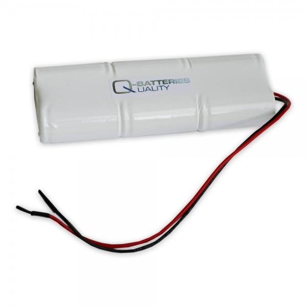 Akku Pack 7,2V 1800mAh für Notbeleuchtung Stab NiCd L3x2 6xC Kabel