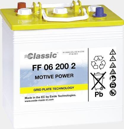 Exide Classic FF 06 200 1 Antriebsbatterie 6 Volt 200 Ah (5h) drivemobil Traktionsbatterie