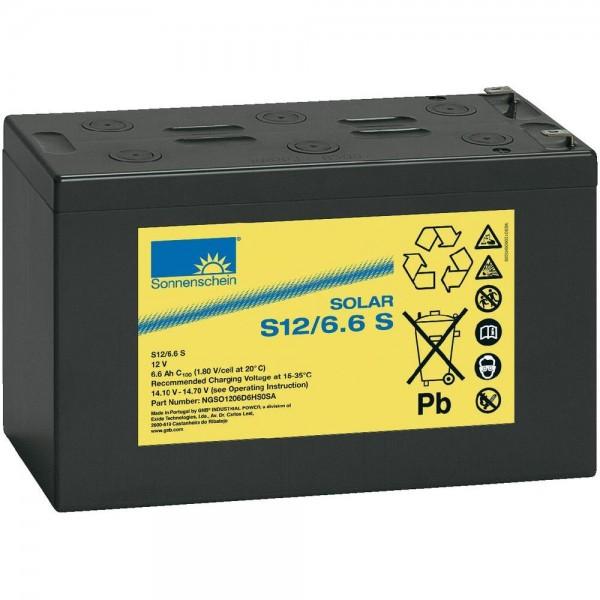 Exide Sonnenschein Solar S12/6,6 S Blei-Gel Batterie 12V 6,6Ah