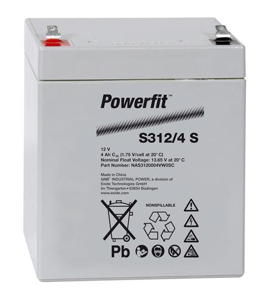 Exide Powerfit S312/4 S 12V 4Ah dryfit Blei-Akku AGM