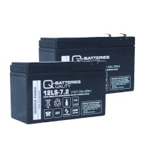 Ersatzakku für Brandmeldezentrale Siemens FH2002-A1 2 x AGM Batterie 12V 7,2Ah mit VdS